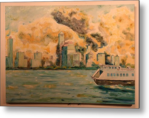 Metal Print featuring the painting 9112001 by Biagio Civale
