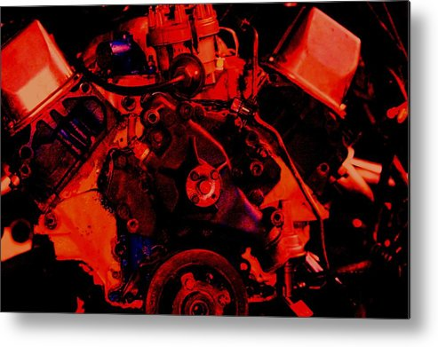 Engine Metal Print featuring the digital art Engine 2 by Lisa Johnston
