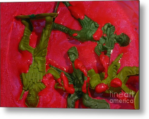 Aggression Metal Print featuring the photograph Toy Soldiers In A Pool Of Blood by Amy Cicconi