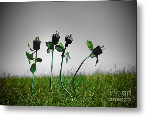 Alternative Energy Metal Print featuring the photograph Growing Green Energy by Amy Cicconi