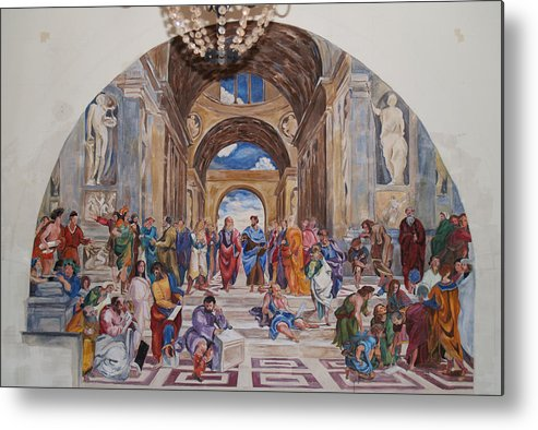 Photography Metal Print featuring the painting Behind The Scenes Mural 9 by Becky Kim