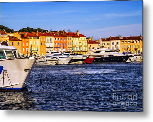 Yacht Metal Print featuring the photograph Boats At St.tropez Harbor by Elena Elisseeva