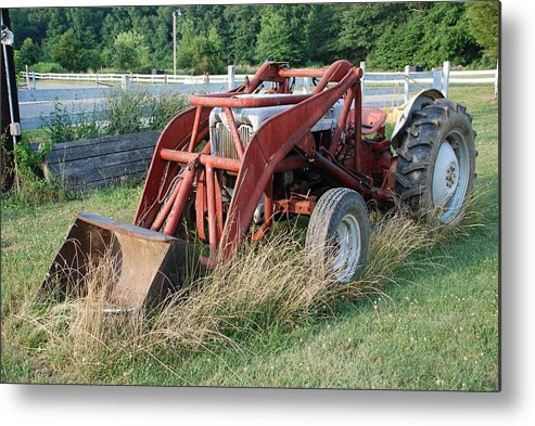 Tractor Metal Print featuring the photograph Old Tractor by Jennifer Ancker