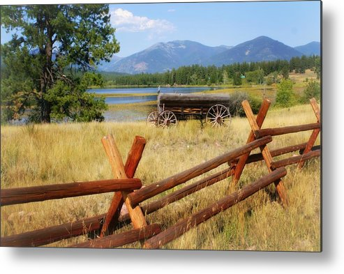 Landscape Metal Print featuring the photograph Rustic Wagon by Marty Koch