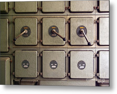 Automation Metal Print featuring the photograph Switch Panel by Carlos Caetano