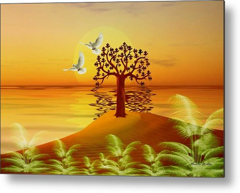 Smudgeart Metal Print featuring the digital art Enchanted Isle by Madeline Allen - SmudgeArt