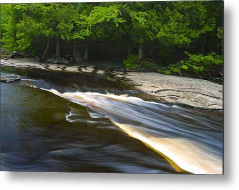 Silky Metal Print featuring the photograph River Flow IIi by Sean Holmquist
