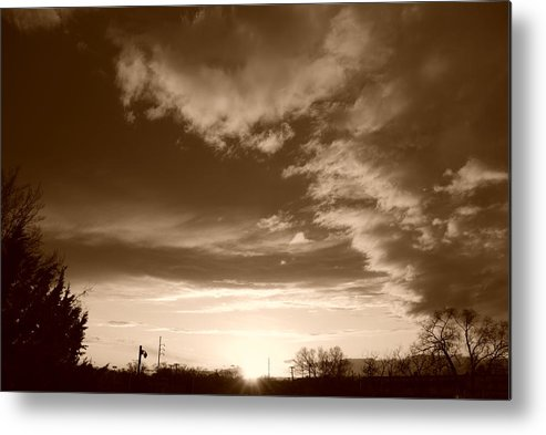 Sunset Metal Print featuring the photograph Sunset And Clouds by Rob Hans