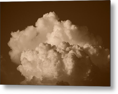 Sepia Metal Print featuring the photograph Sepia Clouds by Rob Hans