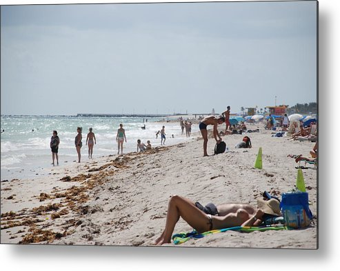 Nude Metal Print featuring the photograph A Day At Paradise Beach by Rob Hans