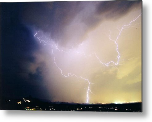 Lightning Metal Print featuring the photograph Air Strike 1 by Cathy Franklin