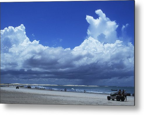Clouds Metal Print featuring the photograph Beach In Brazil by Carl Purcell