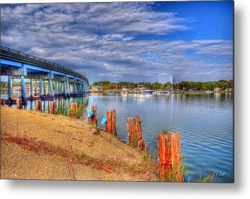 Cobb Island Metal Print featuring the photograph Bridge To Cobb Island by E R Smith