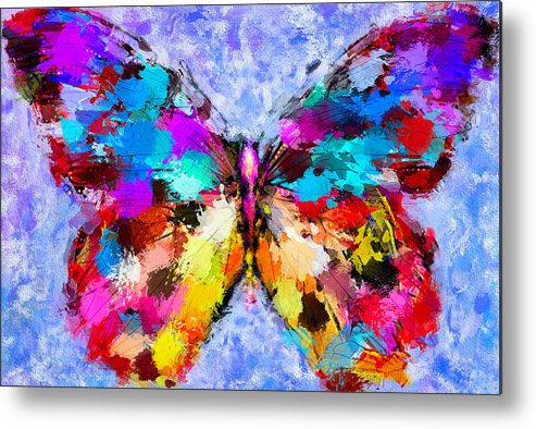 Butterfly Metal Print featuring the digital art Butterfly 2 by Yury Malkov