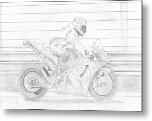 Capirossi Metal Print featuring the drawing Capirossi by Leslie Schofield