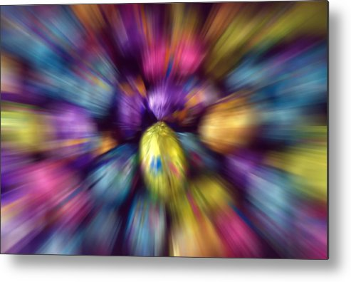 Easter Metal Print featuring the photograph Chocolate Easter Eggs With Zoom Effect by Steve Ohlsen