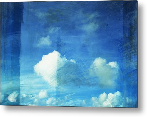 Abstract Metal Print featuring the painting Cloud Painting by Setsiri Silapasuwanchai