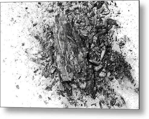 Coal Metal Print featuring the digital art Coal by Patrick Guidato