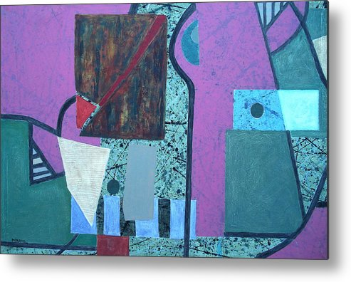 Metal Print featuring the painting Composition I 05 -1- by Maria Parmo