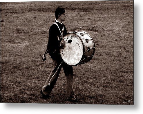 Drummer Boy Metal Print featuring the painting Drummer Boy by David Lee Thompson