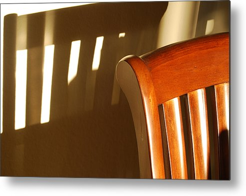 Chair Metal Print featuring the photograph Empty Chair by Michael L Gentile