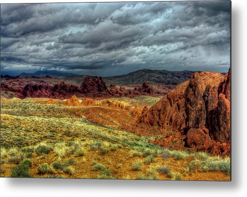 Landscape Metal Print featuring the photograph Eye Of The Storm by Stephen Campbell
