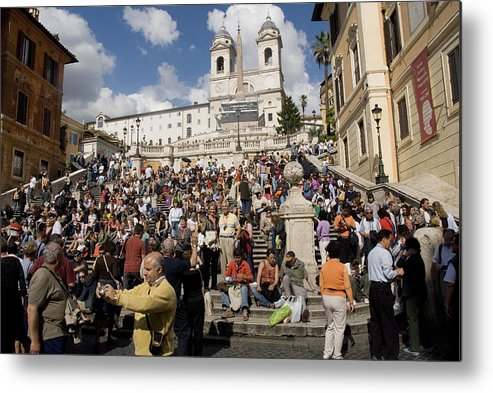 Spanish Steps Metal Print featuring the photograph Famoust Spanish Steps In Rome by Charles Ridgway