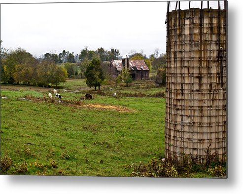 Farm Metal Print featuring the photograph Farmland by Douglas Barnett