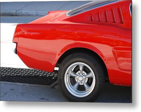 Ford Metal Print featuring the photograph Fastback Mustang by Rob Hans