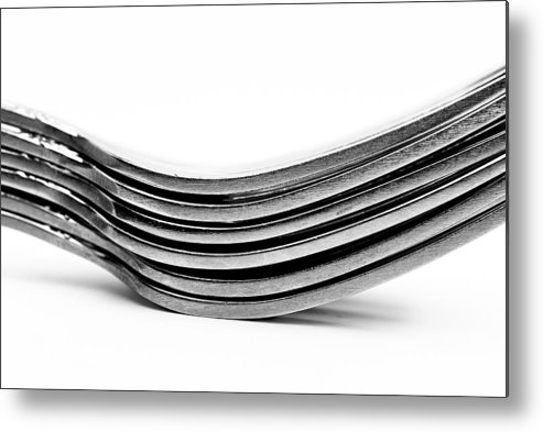 Flatware Metal Print featuring the photograph Forks by Onyonet Photo Studios