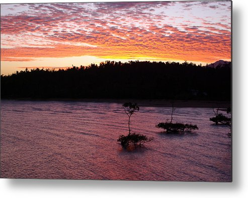 Landscape Metal Print featuring the photograph Four Elements Sunset Sequence 5 Coconuts Qld by Kerryn Madsen - Pietsch