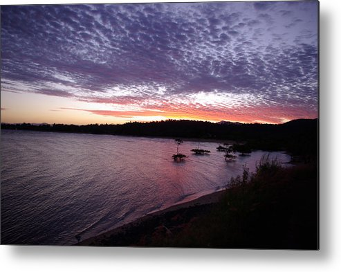 Landscape Metal Print featuring the photograph Four Elements Sunset Sequence 6 Coconuts Qld by Kerryn Madsen-Pietsch