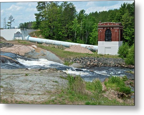 Waterfall Metal Print featuring the photograph Frank J Russell Falls by Michael Peychich