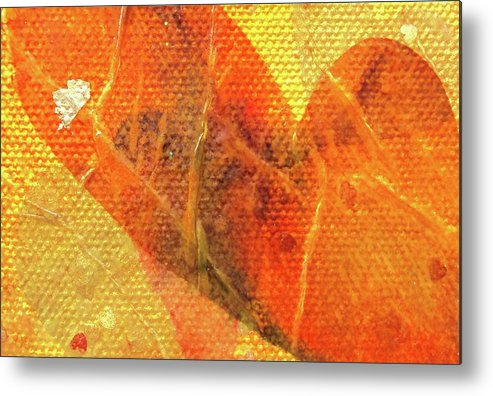 Tissue Paper Metal Print featuring the mixed media Heart Of Mine by Shawna Scarpitti