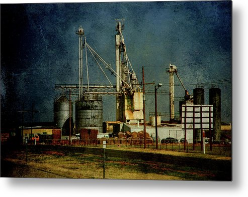 Farm Metal Print featuring the photograph Industrial Farming In Texas by Susanne Van Hulst