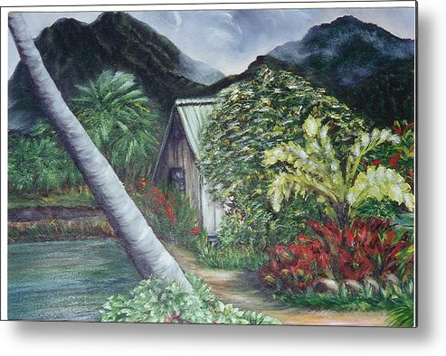 Landscape Metal Print featuring the painting Kanaka House by Laura Johnson