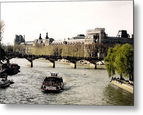 Paris Bateau Mouche Metal Print featuring the photograph La Seine by John Bradburn