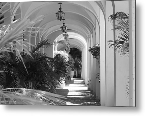 Architecture Metal Print featuring the photograph Lighted Arches by Rob Hans