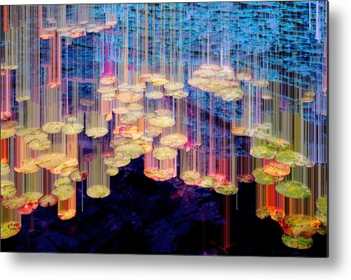 ;andscape Metal Print featuring the photograph Lily Pad 4 Flow by Lyle Crump