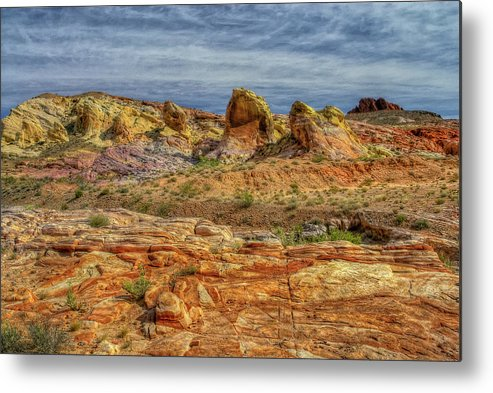 Landscape Metal Print featuring the photograph Monoliths by Stephen Campbell