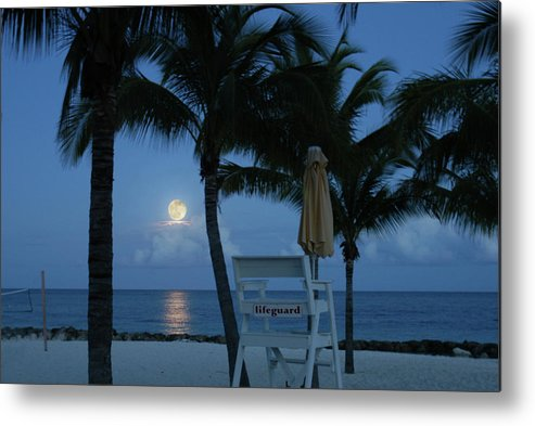 Beach Metal Print featuring the photograph Moonlight Serenade by Angie Bechanan