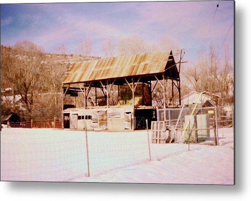 Old Barns Metal Print featuring the photograph More Hay Please by Mike Burton