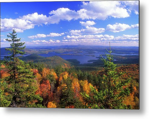 New Hampshire Metal Print featuring the photograph Mount Morgan Squam Lake Foliage by John Burk