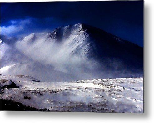 Mountain Metal Print featuring the photograph Mountain Of Alaska by Galeria Trompiz