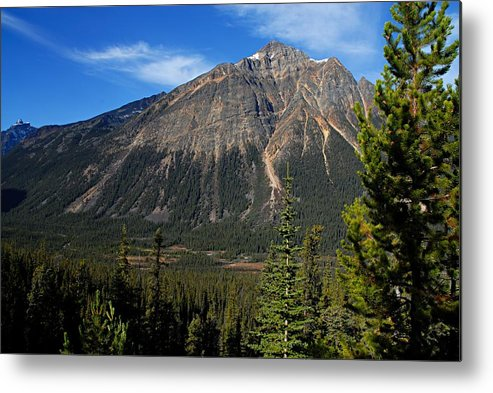Jasper National Park Metal Print featuring the photograph Mountain View 2 by Larry Ricker