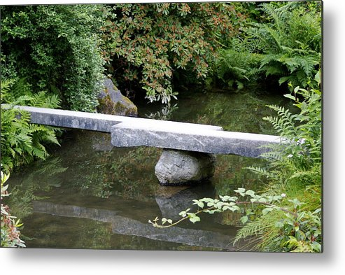 Japanese Garden Metal Print featuring the photograph Natural Bridge by Sonja Anderson