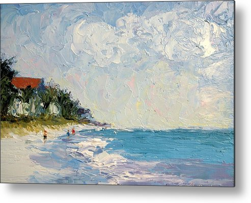 Seascape Metal Print featuring the painting On The Beach by Colleen Murphy