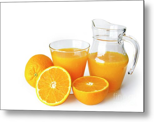 Agriculture Metal Print featuring the photograph Orange Juice by Carlos Caetano