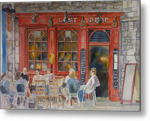 Pub Metal Print featuring the painting Out For A Pint by Victoria Heryet