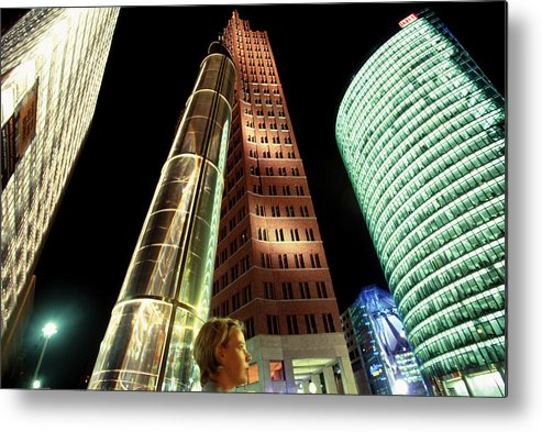 Berlin Metal Print featuring the photograph Potsdamer Platz Berlin by Brad Rickerby